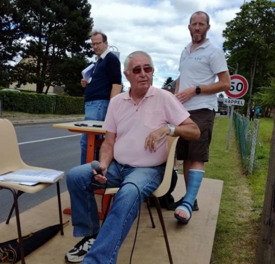 Papi à la course de Juillet 2017 à St Jacques sur Darnétal...