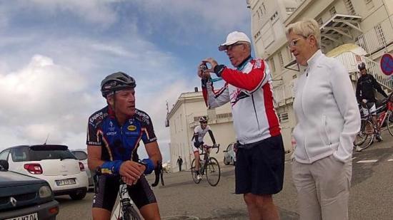 JB avec Papi vélo et Nenette Ventoux 2014