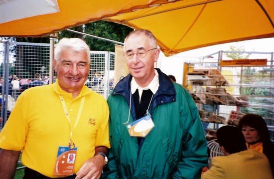 Avec Poupou en 2002-Etape Forges les Eaux-Alençon du Tour avec Papi