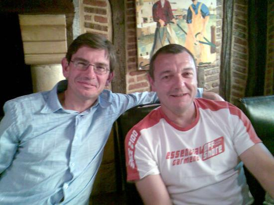 Mes deux amis P.Bouvatier et Eric Louvel à la Robic Bonsecours 2007