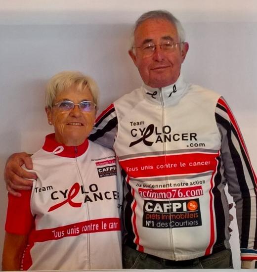 Nénette et Papi Vélo...Cyclo Cancer 2018